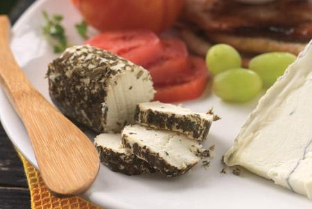 Cracked Pepper Encrusted Goat Cheese